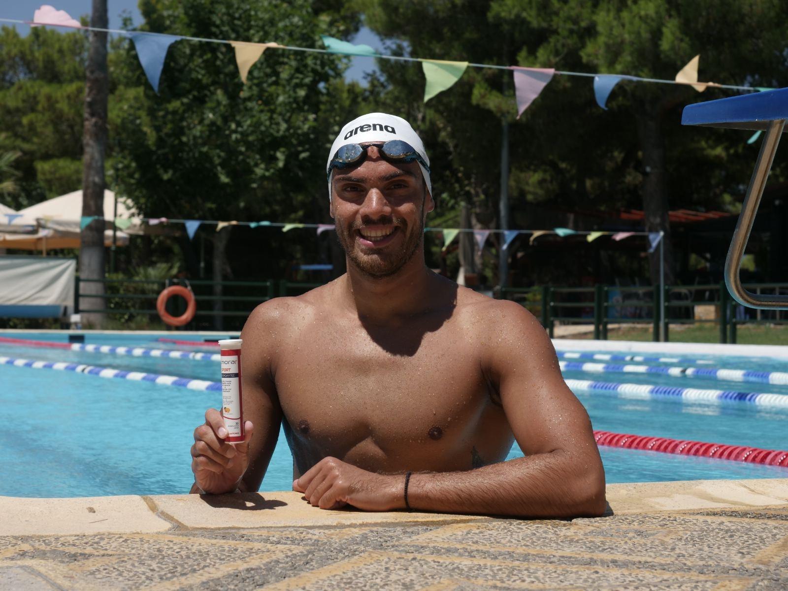 Ο πρωταθλητής κολύμβησης Ανδρέας Βαζαίος πρεσβευτής του almora PLUS® SPORT