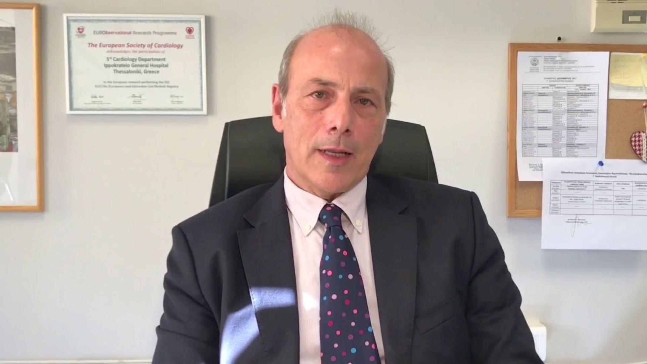Ο Καθηγητής Καρδιολογίας Β. Βασιλικός μιλάει για την περιπέτεια του από τον Κορωνοϊό