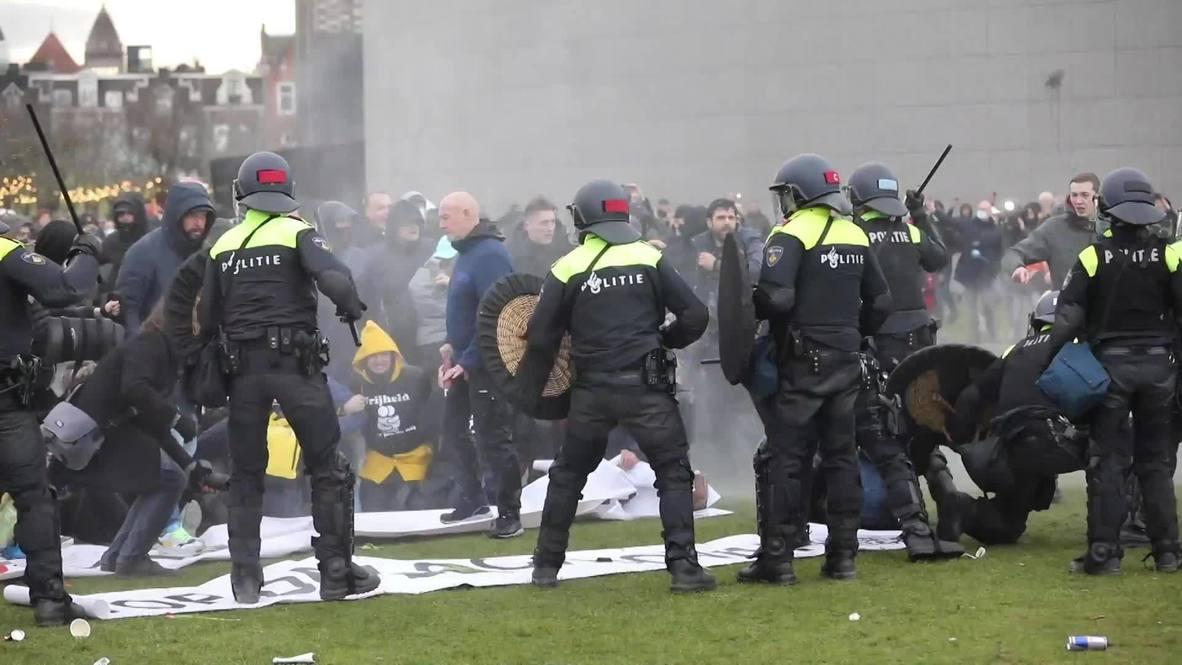 Ολλανδία διαδήλωση κορωνοϊός: Συγκρούσεις για την απαγόρευση κυκλοφορίας