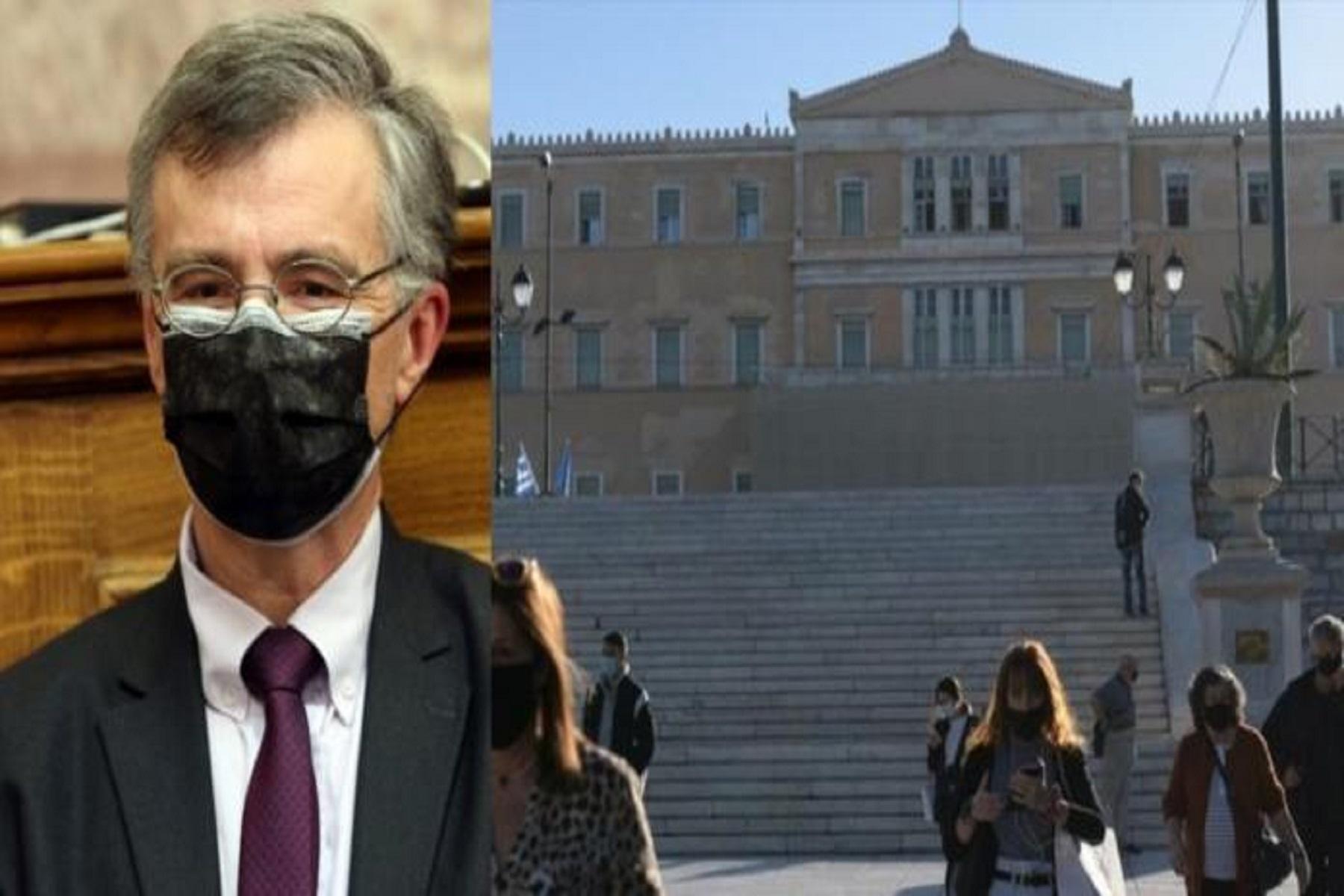 Τσιόδρας Βουλή: Αυστηρή προειδοποίηση τήρησης των μέτρων προστασίας και επαγρύπνησης
