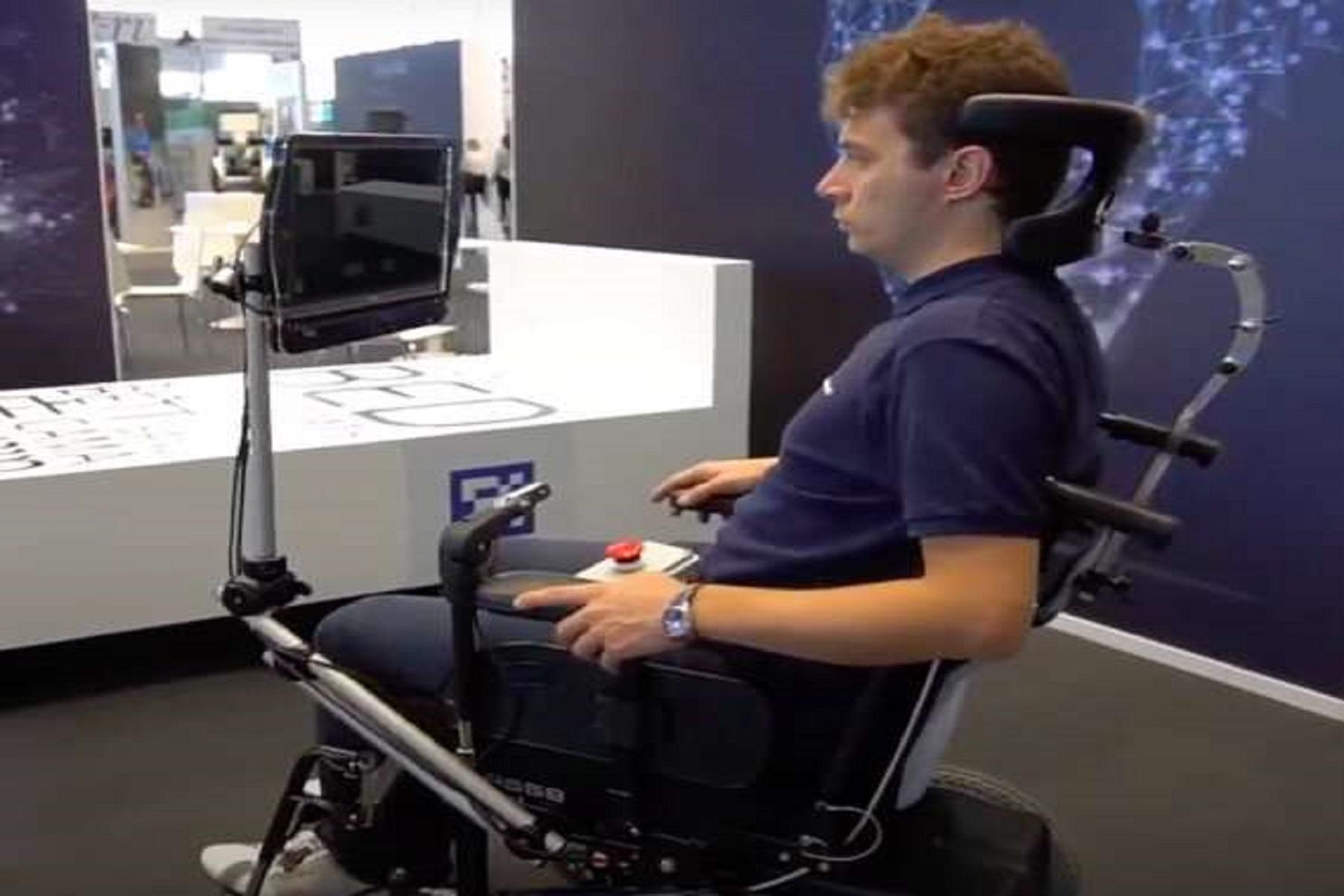 RoboEYE Παραπληγία: Ημιαυτόνομη αναπηρική καρέκλα με οδηγό το βλέμμα