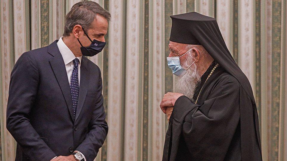 Μονή Πετράκη: Επικοινωνία Μητσοτάκη με Αρχιεπίσκοπο Ιερώνυμο για την επίθεση με βιτριόλι