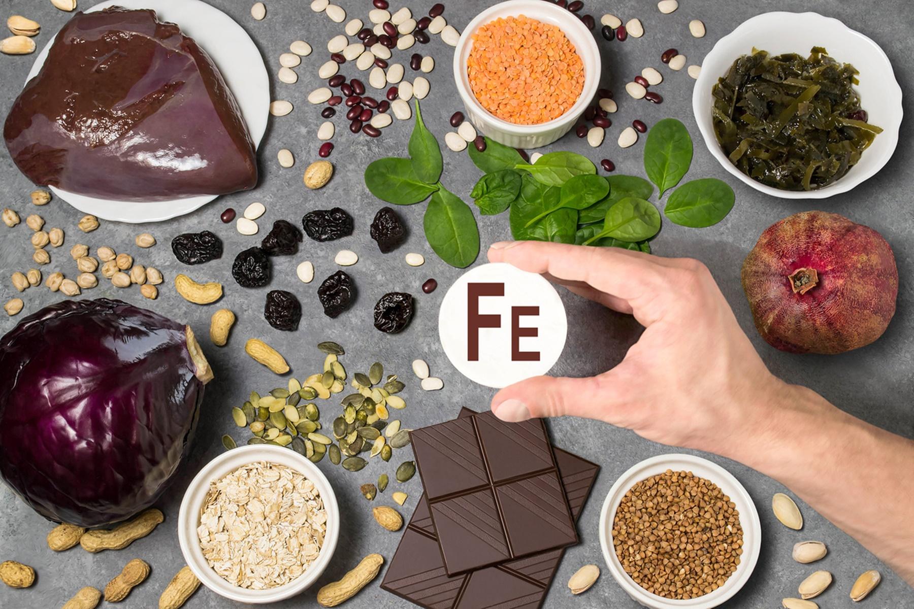 Διατροφή : Τρόφιμα πλούσια σε σίδηρο