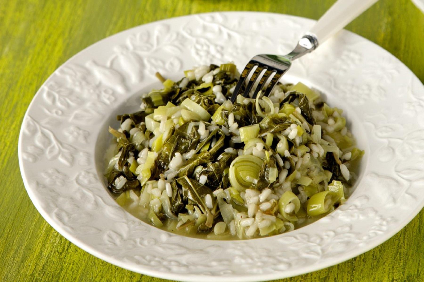 Συνταγή Μαγειρική: Ριζότο με αμπελόφυλλα
