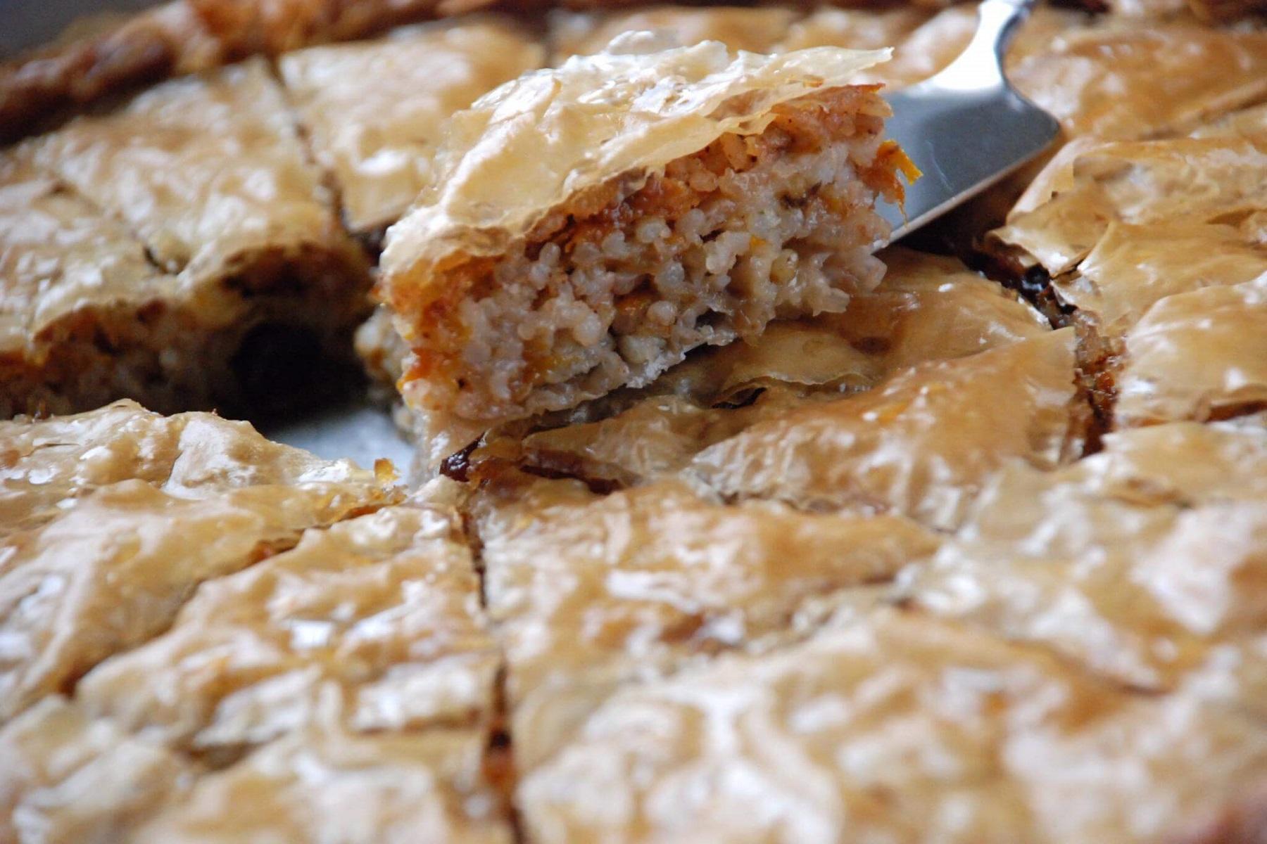 Πίτες Συνταγή: Παραδοσιακή ρυζόπιτα αλμυρή