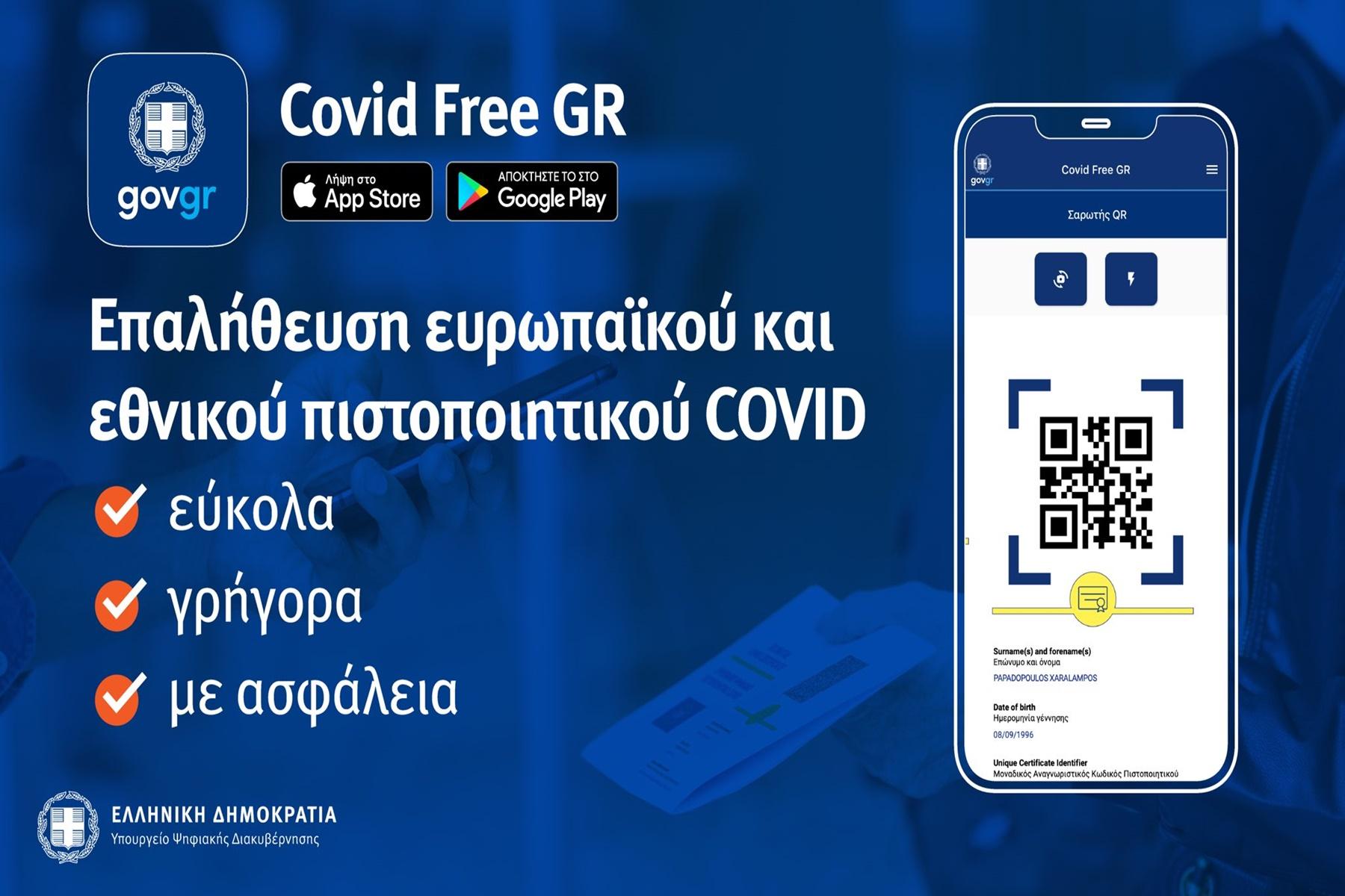 Covid free app : Έτσι θα λειτουργεί η εφαρμογή επαλήθευσης εμβολιασμένων