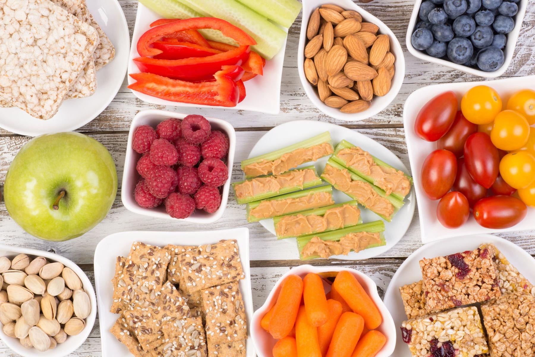 Σνάκ : Χάστε βάρος με υγιεινά τρόφιμα
