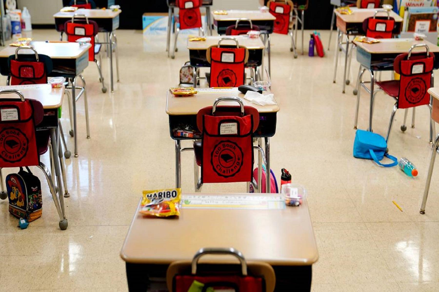 ΗΠΑ CDC: Προτεραιότητα η προσωπική μάθηση στα σχολεία με προϋποθέσεις ασφάλειας έναντι του κορωνοϊού