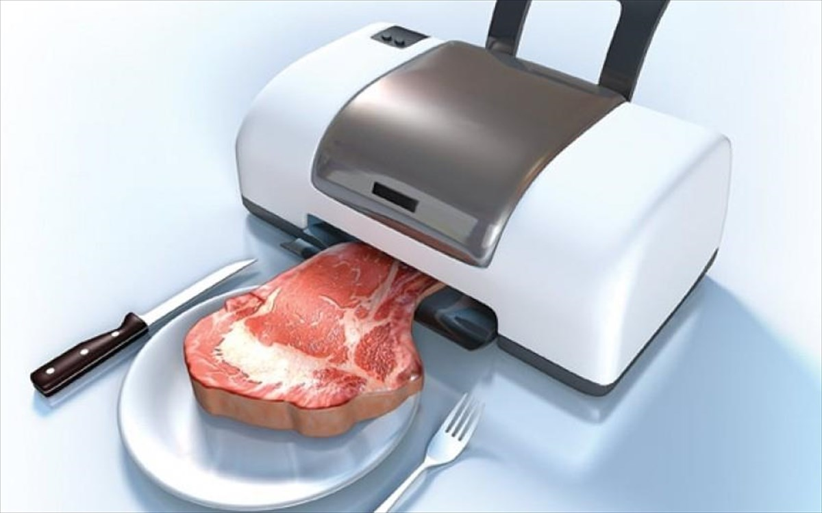 """Ψηφιακή μπριζόλα εκτυπωτής: Η πρώτη μπριζόλα που """"μαγειρεύτηκε"""" σε εκτυπωτή"""