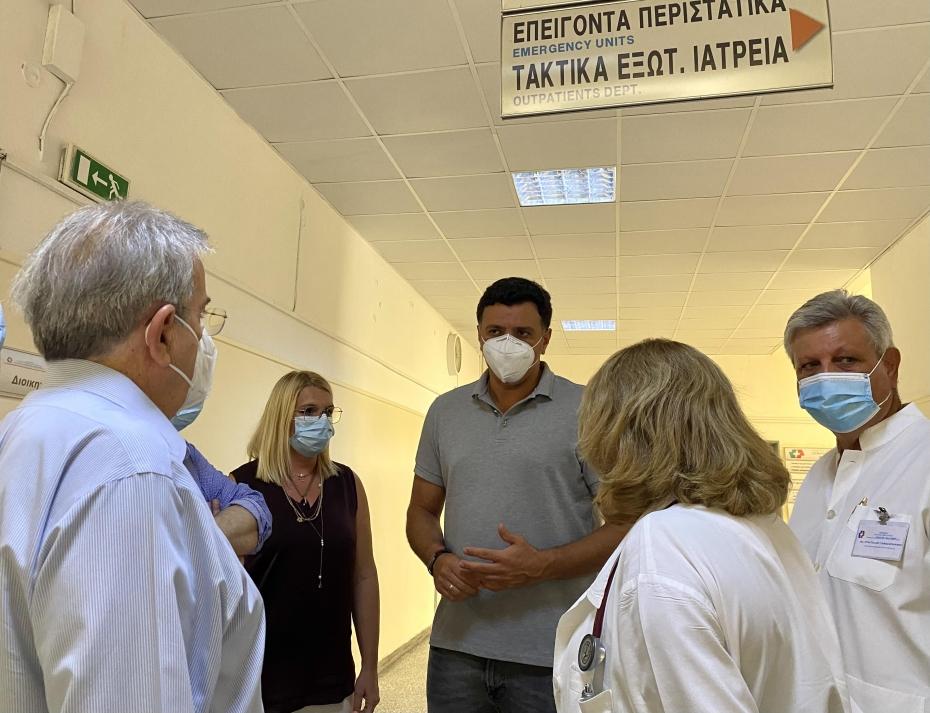 Βασίλης Κικίλιας Σισμανόγλειο: Συστάσεις για προστασία από αναπνευστικά προβλήματα εξαιτίας της πυρκαγιάς