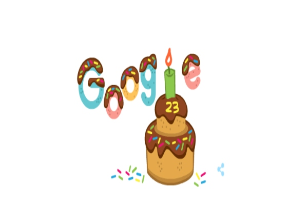 Google Doodle: Η Google γιορτάζει τα 23 της χρόνια και το γιορτάζει σβήνοντας κεράκια