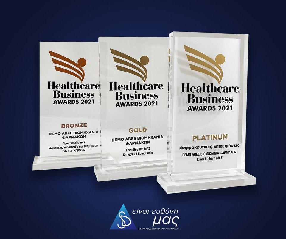 DEMO ABEE: Πλατινιένο, Χρυσό και Χάλκινο Βραβείο στα Healthcare Business Awards 2021