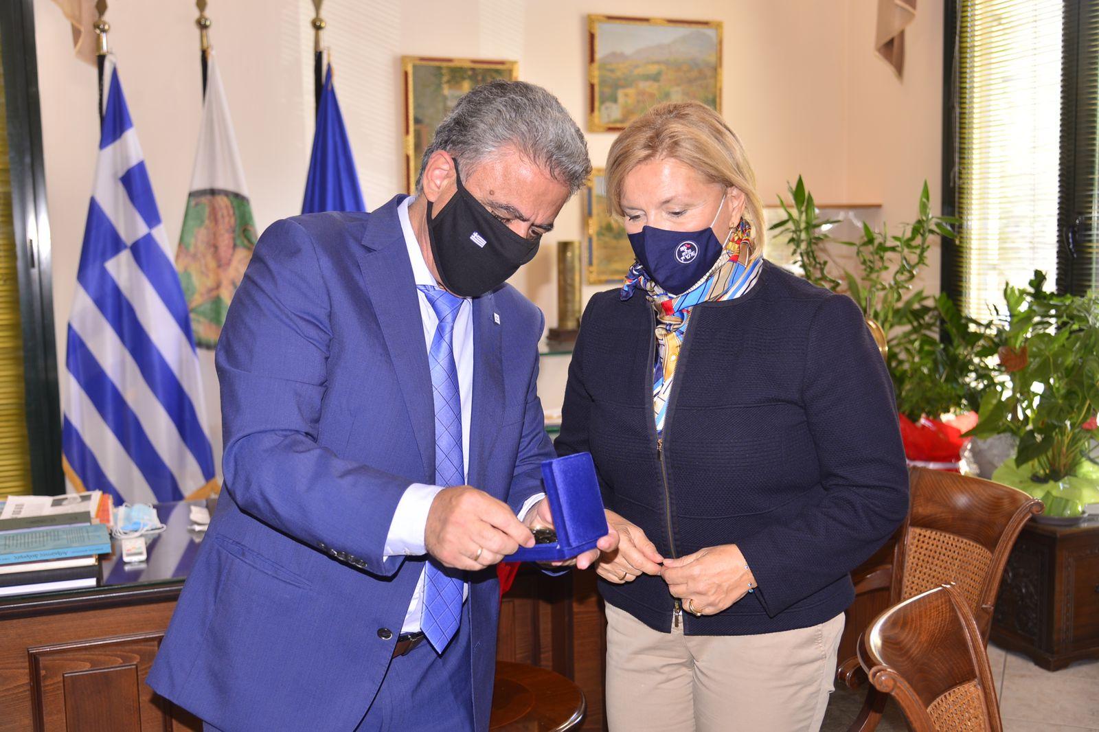 Μίνα Γκάγκα: Επίσκεψη Αναπληρώτριας Υπουργού Υγείας Μίνας Γκάγκα στη Χίο