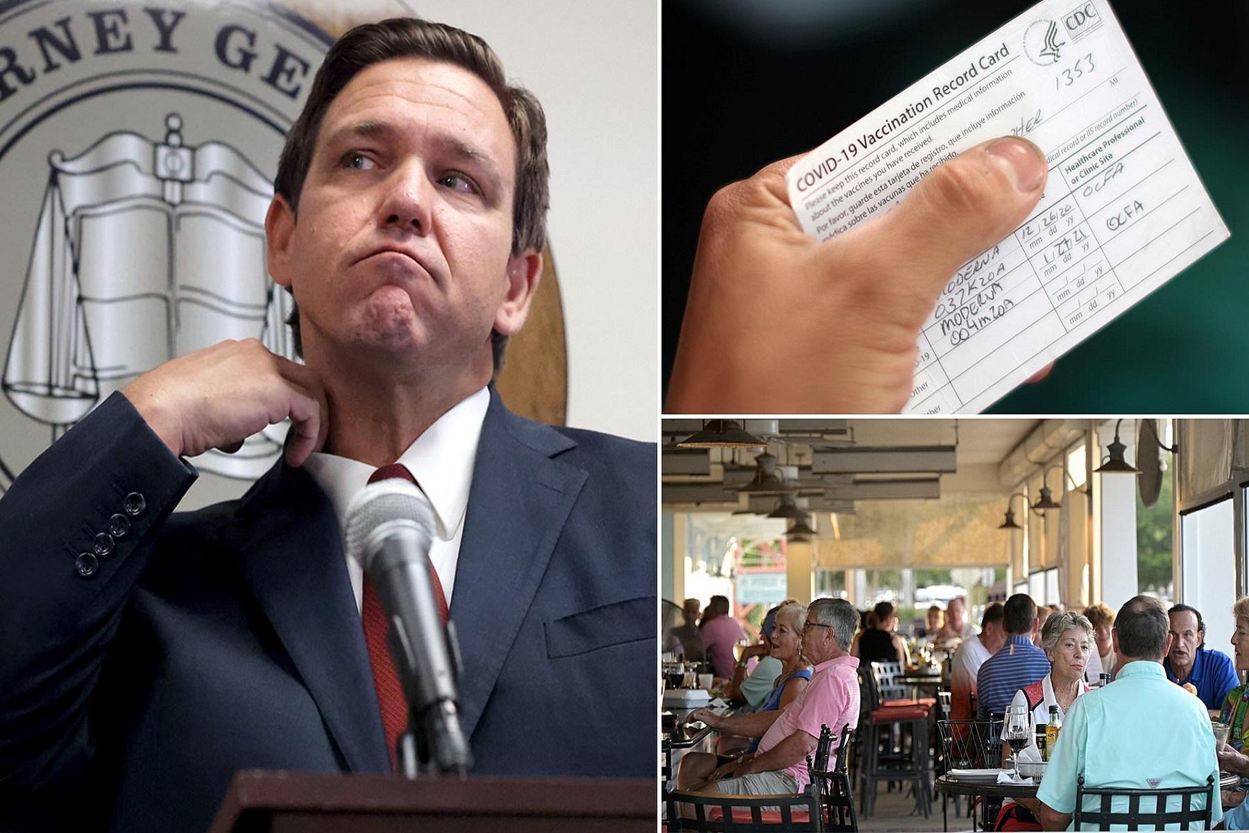 ΗΠΑ Φλόριντα: Θα επιβάλλει πρόστιμο σε όποιον ζητήσει απόδειξη για τον εμβολιασμό κατά της COVID-19 5.000 $